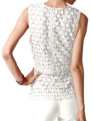 Eleganta mežģīņu baltas krāsas blūze ALBA MODA