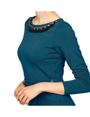 BRUNO BANANI stilīga zilas krāsas sieviešu kleita