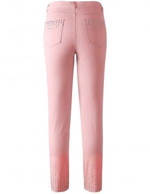 Rozā džinsi dekorēti ar kristāliem Creation L
