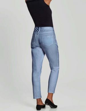Zili džinsi dekorēti ar kristāliem Creation L
