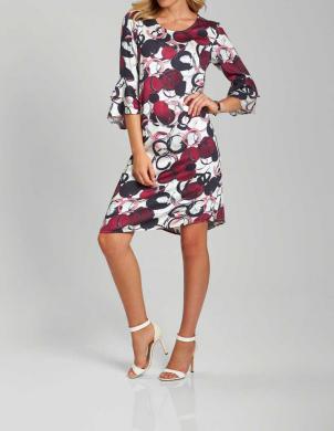 Eleganta krāsaina kleita ar volāniem CREATION L