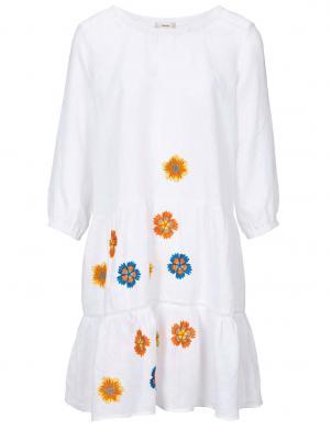 Balta lina puķaina kleita HEINE