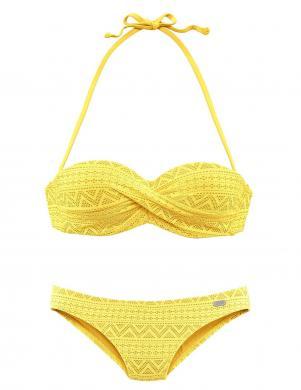 Dzeltens divdaļīgs peldkostīms BUFFALO