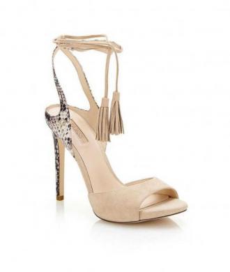 GUESS smilšu krāsas sieviešu augstpapēžu sandales
