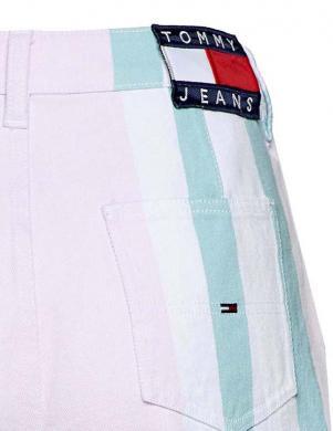 Balti džinsa svītraini šorti TOMMY JEANS