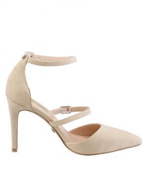 BUFFALO krēmīgas krāsas augstpapēžu apavi