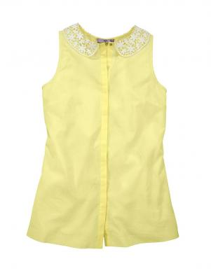 AJC dzeltenas krāsas skaista sieviešu kokvilnas blūze