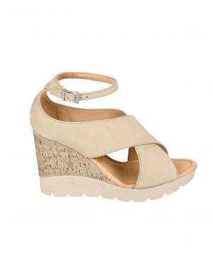 Smilšu krāsas sieviešu platformas sandales WERNER