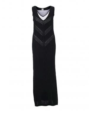 Melna divu slāņu gara kleita HEINE