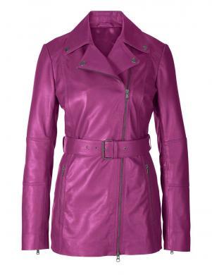 Rozā ādas jaka ar jostu HEINE