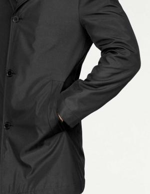 Elegants melns vīriešu mētelis CLASS INTERNATIONAL