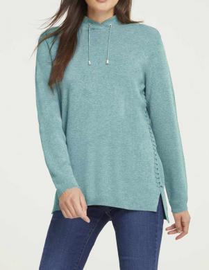 Piparmētru krāsas džemperis ar apkakli Rick Cardona