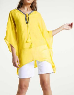 Dzeltena šifona tunika un krekls HEINE