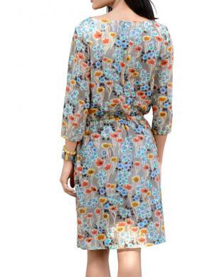 Zīda krāsas kleita ALBA MODA