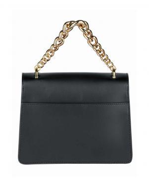 Melna maza ādas soma ar zelta krāsas ķēdīti COLLEZIONE ALESSANDRO