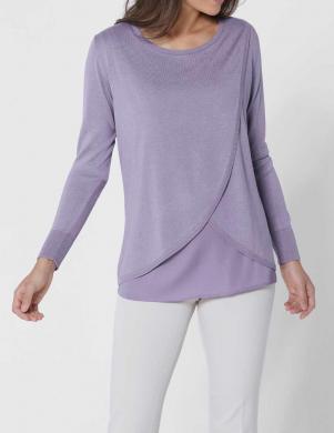 Lavandas krāsas džemperis ar zīdu CREATION L PREMIUM