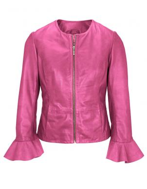 Rozā sieviešu ādas jaka HEINE