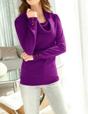 Violets džemperis ar platu apkakli FAIR LADY