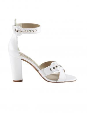 Sieviešu baltas lakādas augstpapēžu sandales HEINE