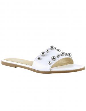 Stilīgas baltas sieviešu ādas čības HEINE