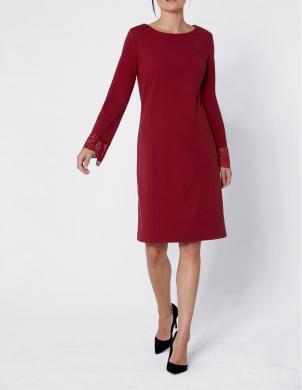 Eleganta sarkana kleita ar mežģīnēm CREATION L PREMIUM