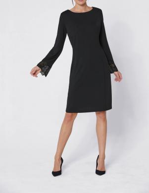 Eleganta melna kleita ar mežģīnēm CREATION L PREMIUM