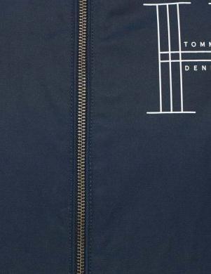 Zila sieviešu jaka ar baltām piedurknēm TOMMY HILFIGER DENIM