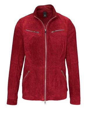Sarkana ādas sieviešu jaka HEINE - BEST CONNECTIONS ar defektu