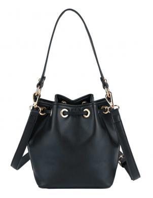 Melna mākslīgas ādas soma HEINE