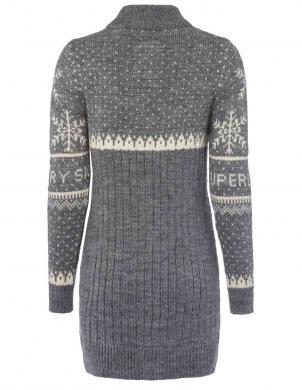 Pelēks garš džemperis ar vilnu SUPERDRY