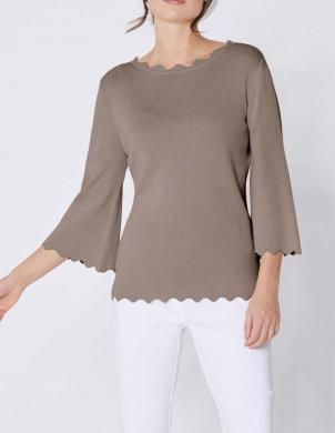 Stilīgs brūns džemperis ar zīdu CREATION L PREMIUM
