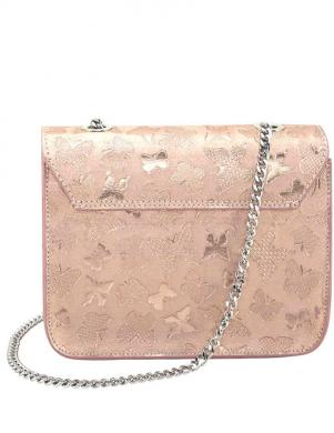 Rozā zelta krāsas ādas maza soma COLLEZIONE ALESSANDRO