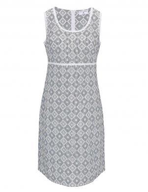 RICK CARDONA Balta/pelēka kleita
