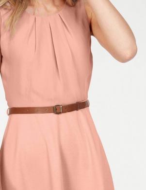 Rozā stilīga kleita ar jostu VERO MODA