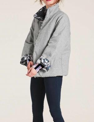 Divpusīga pelēka krāsaina silta jaka HEINE