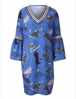 Zila kleita ar uzpūstām piedurknēm HEINE