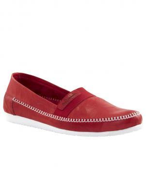 Sarkani ādas sieviešu mokasīni ANDREA CONTI