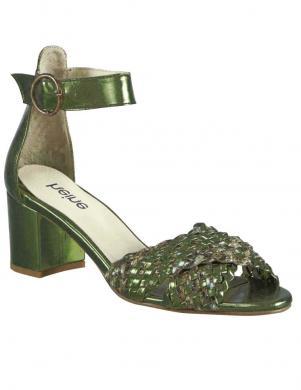 Zaļa metāla krāsas augstpapēžu sandales Heine