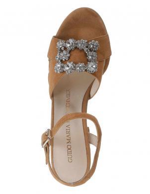 Elegantas brūnas sieviešu augstpapēžu sandales GUIDO MARIA KRETSCHMER