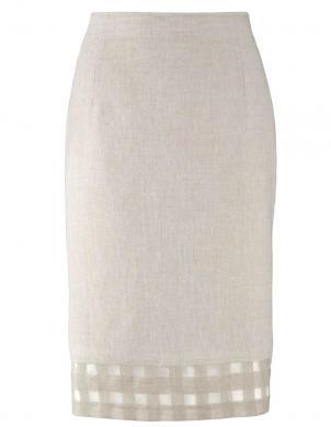 Eleganti lina krēmīgas krāsas svārki HEINE