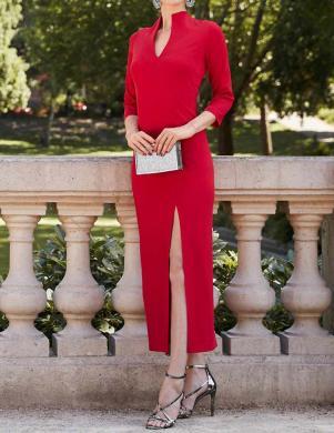 Sarkana kleita ar šķēlumu HEINE