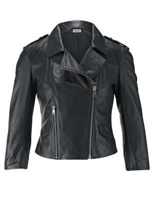 Melna ādas sieviešu jaka HEINE
