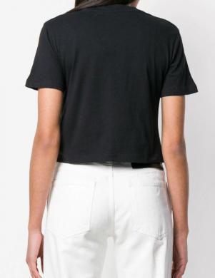 CALVIN KLEIN JEANS melns īss sieviešu krekls