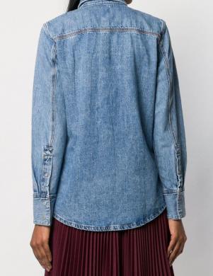 CALVIN KLEIN JEANS zils džinsa sieviešu krekls