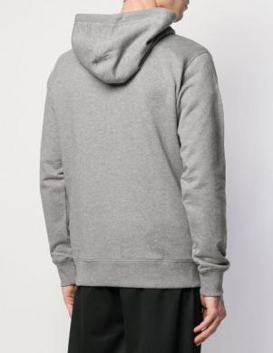 CALVIN KLEIN JEANS pelēks vīriešu džemperis ar kapuci