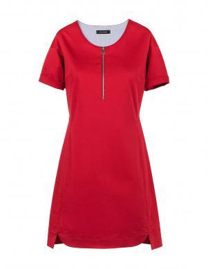 COP. COPINE sarkana sieviešu kleita ar rāvējslēdzēju priekšā