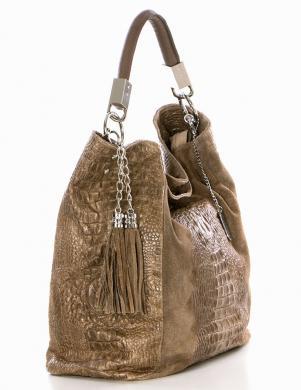ANNA MORELLINI brūna ādas sieviešu soma