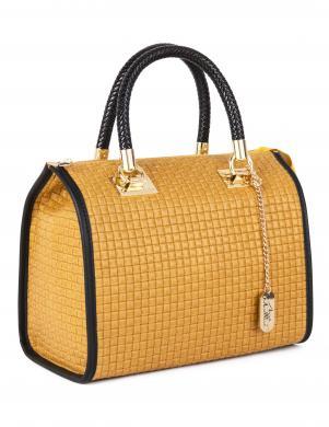 ANNA MORELLINI dzeltena ādas sieviešu soma
