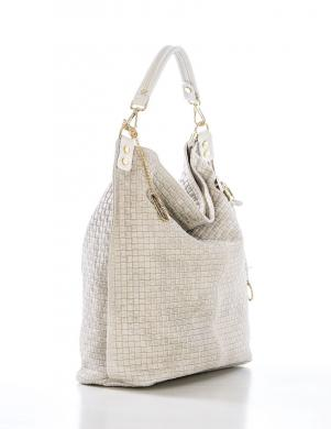 ANNA MORELLINI krēmīga ādas sieviešu soma