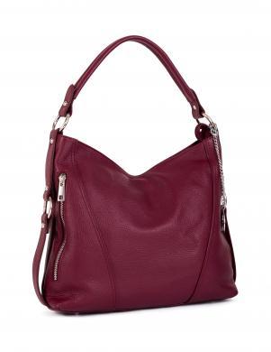 MIA TOMAZZI tumši sarkana ādas sieviešu soma
